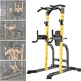 Intrieur Pull-Ups Appareils Charges Guides, Multifonctionnel Haltrophilie Rack Squat/Repose Haltres/Support pour Haltres/Rack De Musculation, Rglable Workout quipement