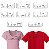 4Sizes 8Pcs T-Shirt Ruler Guide Alignment Tool Tshirt Measurement Rulers to Center Designs Tshirt Printing Guide for Heat Press Vinyl Placement Tee Rulers Transparent
