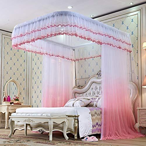 KE & LE muggennet tent met 4 hoeken om op te hangen prinses stijl slaapkamer decoratie vliegennet volwassenen meisjes