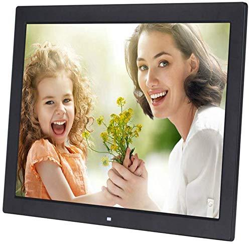 EORj98D Digital Photo Frame 19-Zoll-LED-Bildschirm 1080P HD Video Unterstützung USB und SD-Karten-Slots und die Fernbedienung 1366 * 768 Hohe Auflösung Amplifier,Schwarz