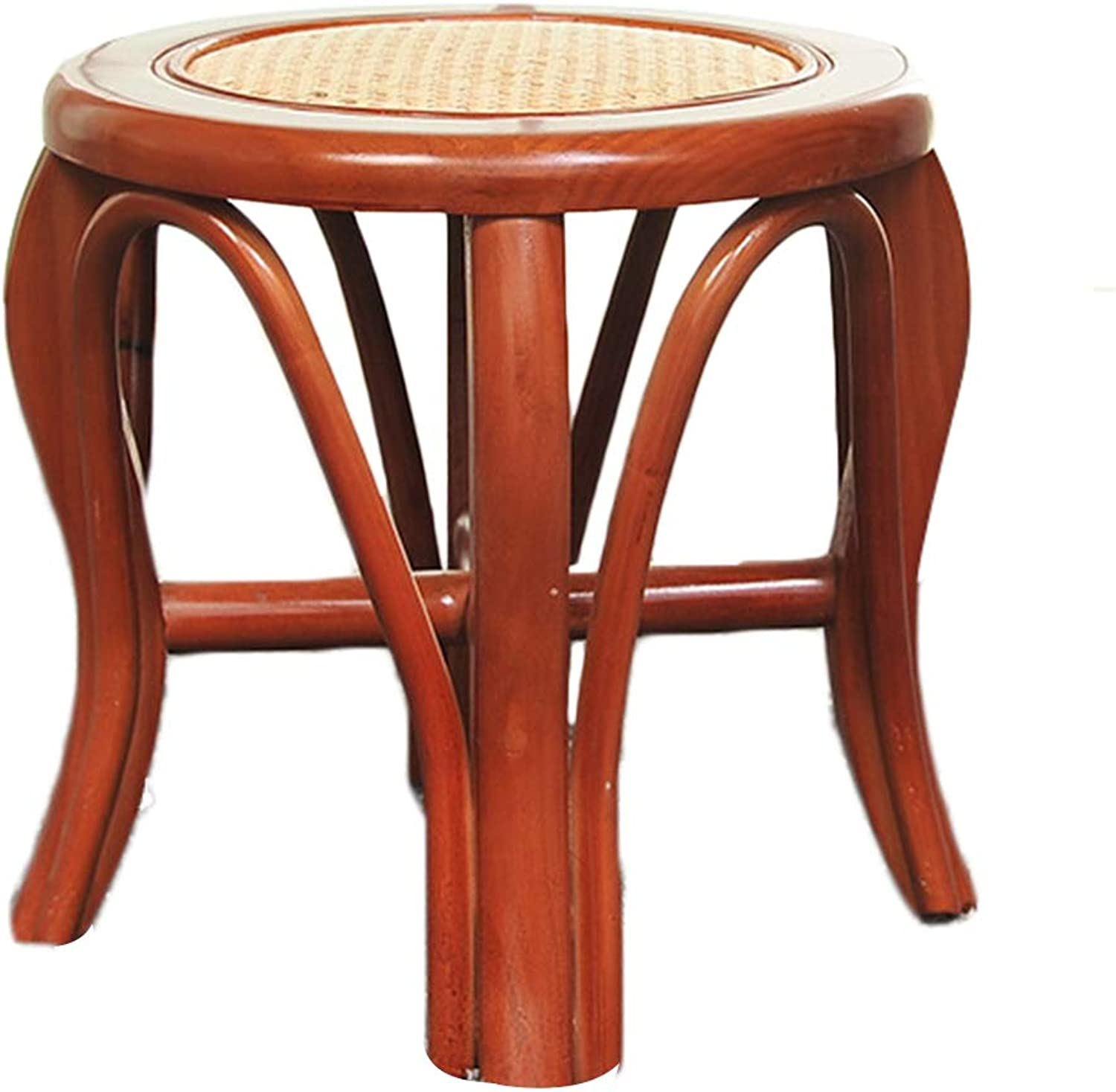 AGLZWY Small Stool Rattan Stool Environmental Predection Simple Geblackus Solid Practical, Brown, 2 Sizes (color   A, Size   34.5X35cm)