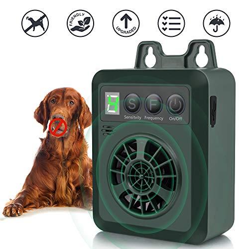 Queenmew Ultrasónicos Dispositivos Antiladridos, sónicos Impermeable Controlador de Ladridos para Perros, Recargable y Inofensivo Collares para Entrenamiento de Perro, Detector Perros Anti Ladridos