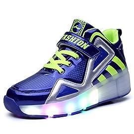 Led-Luces-Zapatos-con-Ruedas-para-Pequeos-Nios-y-Nia-Automtica-Calzado-de-Skateboarding-Deportes-de-Exterior-Patines-en-Lnea-Brillante-Mutilsport-Aire-Libre-y-Deporte-Gimnasia-Running-Zapatillas