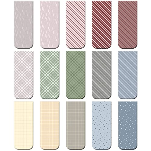 30 Pieces Magnetic Bookmarks Magnetic Page Markers Assorted Bookmarks Set for Student Stationery Present Magnet Bookmarks Clips (Simple Color)