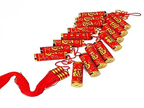 China Komplex Traditionelle Chinesische Knoten Ornament mit Knallkörper Perlenquasten rot, Home Deko und Urlaub Dekorationen