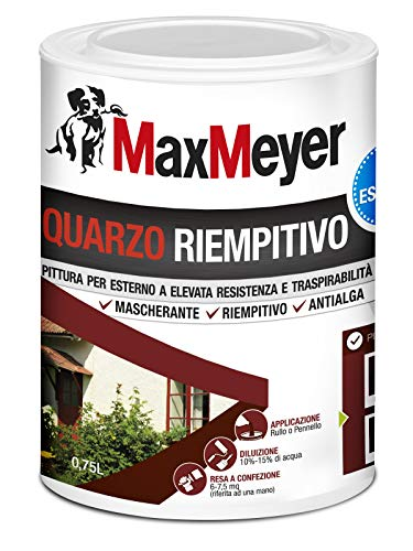 MaxMeyer Pittura per esterni Quarzo Riempitivo Antialga BIANCO 0,75 L