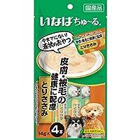 【セット販売】いなば、ちゅ~る、犬用、皮膚・被毛の健康に配慮、とりささみ、(14g×4本)×6コ