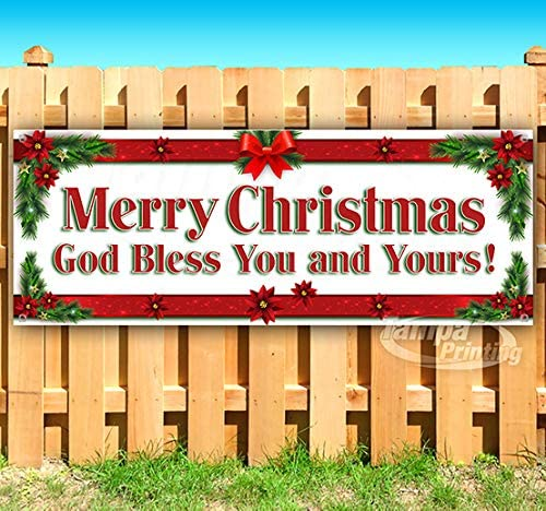 35% OFF Merry Christmas God Bless You and oz Yours shop Non-Fabr Banner 13