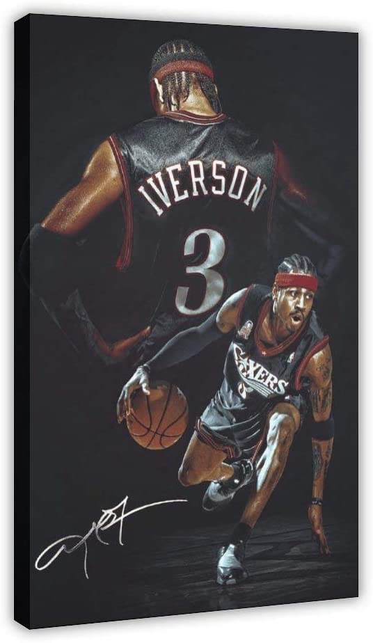 Basketball Player Allen Genuine Free Shipping Iverson Art Canva Sports 3 Poster Miami Mall
