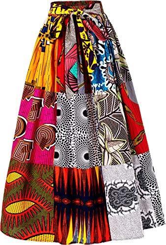 African print high waist skirt _image4
