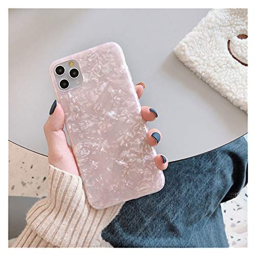 Glqwe Glitter Silicone Conch Shell PATTEL Funda telefónica para iPhone 12 Mini Pro MAX 6 7 8 11 S Plus X S XR MAX MAX Soft TPU Tapa Trasera de Lujo (Color : 86P, Material : For iPhone 7 Plus)