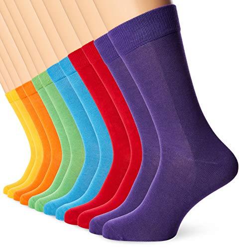 FM London Herren Bamboo Socken, Mehrfarbig (Bright 10), 43-46 (12er Pack)