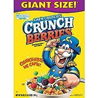 キャップンクランチコーン&オート麦朝食シリアル、クランチベリー、26オンス - Cap'n Crunch Corn & Oat Breakfast Cereal, Crunch Berries, 26 Oz