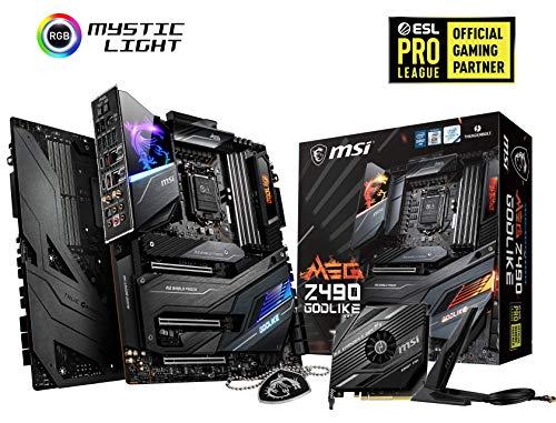 MSI MEG Z490 GODLIKE E-ATX Gaming-Motherboard (10. Generation Intel Core, LGA 1200 Sockel, DDR4, SLI/CF, drei M.2-Steckplätze, Thunderbolt 3 Typ-C, Wi-Fi 6, Mystic Light RGB)
