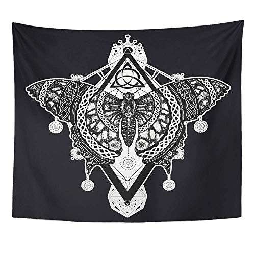 Soefipok Tapisserie Mandala Home Decor Flügel Schmetterling Tattoo keltischen mystischen Symbol der Freiheit Natur Tourismus schön für Schlafzimmer Wohnzimmer Schlafsaal