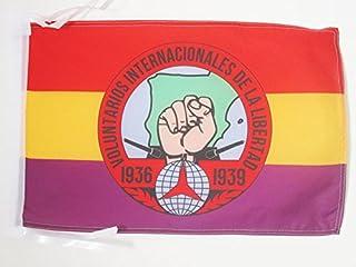 AZ FLAG Bandera de ESPAÑA Republicana Voluntarios Libertad 45x30cm - BANDERINA BRIGADES INTERNCIONALES Republica ESPAÑOLA ...