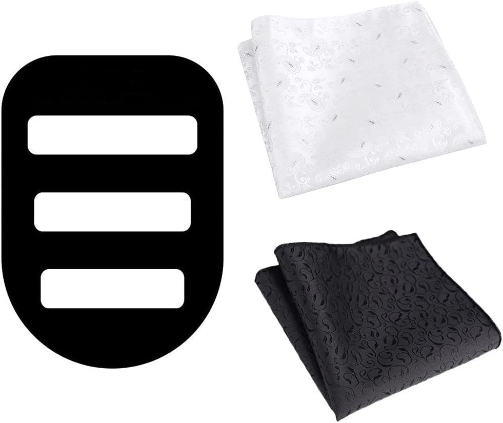 Lnrueg Handkerchief Holder Plastic Lightweight Casual Classic Silk Handkerchief Organizer with 2PCS Kerchiefs Classic