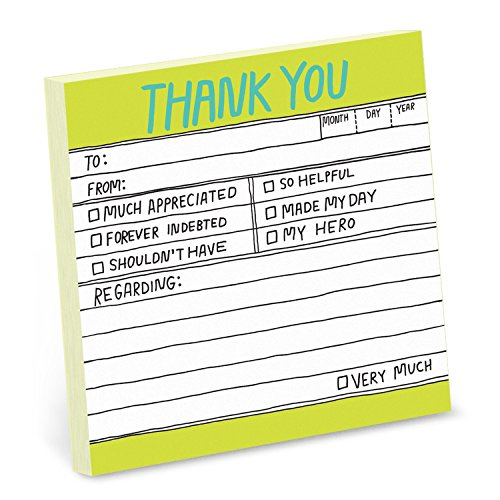 8-Pack Knock Knock Thank You Hand-Lettered Sticky Notes, Thank You Notes, 3 x 3-inches, 100 Sheets Each Photo #2