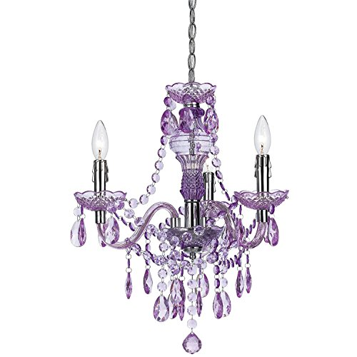 AF Lighting 8503-3H Fulton Mini Chandelier 3 Light Crafted, Purple