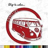 CUAC REVOLUTION Pegatina Camper Life Vinilo Pegatina Adhesivo Coche Moto Caravana Decal Vinyl (Rojo Claro)
