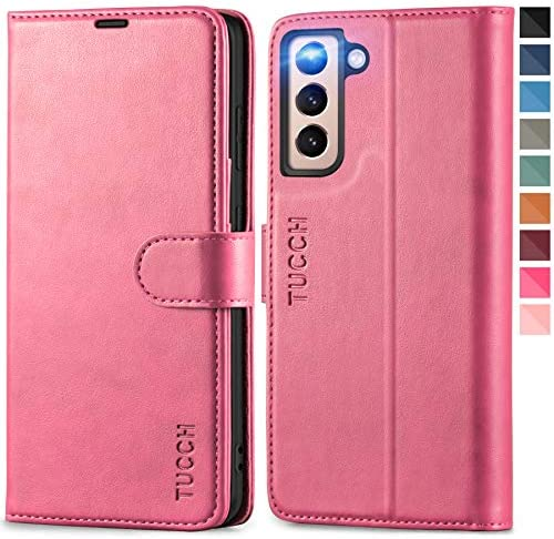 TUCCH Case Wallet for Galaxy S21 5G Magnetic PU Leather Stand RFID Blocking Card Slot Protective product image