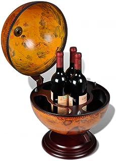 Autoshoppingcenter Casier à vin Porte-Bouteilles Support à vin sous Forme de Globe Bois pour Salon,Chambre Cuisine, Restau...