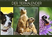 Der Tierkalender mit Zitaten, Weisheiten und Spruechen (Wandkalender 2022 DIN A3 quer): Emotionale Tierfotografien begleiten durch das Jahr. (Monatskalender, 14 Seiten )