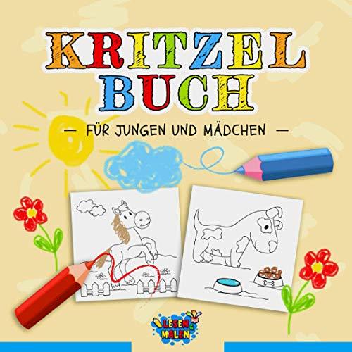 Kritzelbuch für Jungen und Mädchen: Kritzelmalbuch ab 2 Jahren / Beschäftigungsbuch für Kinder