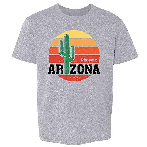Phoenix Arizona Retro Travel Sport Grey 4T Toddler Kids Girl Boy T-Shirt