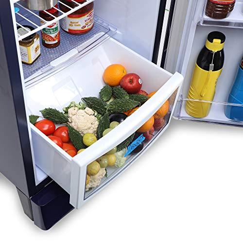 Godrej 190 L 3 Star Inverter Direct-Cool Single Door Refrigerator with Jumbo Vegetable Tray (RD 1903 EWHI 33 STL BL, Steel Blue, Inverter Compressor) 6