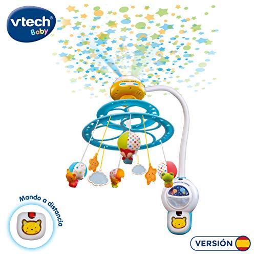 VTech Baby 3480-181022 Noche Estrellitas - Proyector móvil  para bebé, con luces y sonidos relajantes, lámpara/módulo extraíble, mando a distancia y temporizador