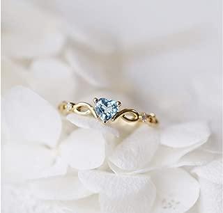Goldenchen Fashion Jewelry 14k Gold Filled Sea Blue Topaz Love Heart CZ Diamond Ring Women Anniversary Engagement Wedding Gemstone Ring (7)