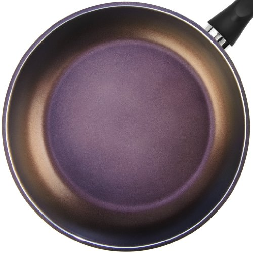 """TeChef - Color Pan 12"""" Frying Pan, Coated with New Safe Teflon Select - Color Collection/Non-Stick Coating (PFOA Free) / (Aubergine Purple)"""