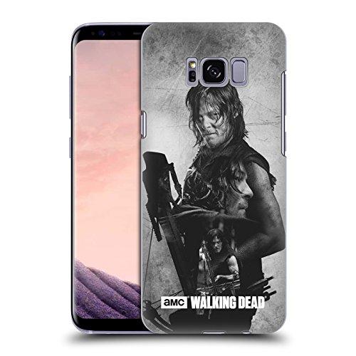 Offizielle AMC The Walking Dead Daryl Doppelte Aussetzung Harte Rueckseiten Huelle kompatibel mit Samsung Galaxy S8