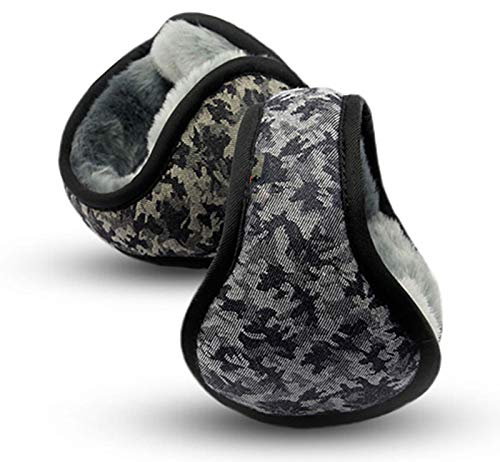 BAIZAN Camouflage Herren Warme Ohrenschützer, Out Ohr-Ohrwärmer-Falten-Ohr-Protektoren, Einstellbare Anti-Freeze-Risshalterung