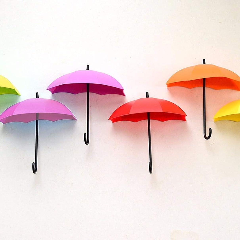 VU ANH TUAN Store Hooks & Rails 3Pcs Colorful Umbrella Wall Holder Organizer Decorative Hanger