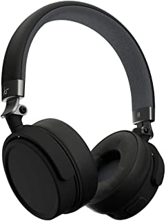 Kitsound Accent 60 Wireless Bluetooth Headphones, On Ear Headphones with Call Handling and Carry Pouch, Black