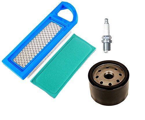 oxoxo 697014697153Filtro de aire y 697015Pre filtro con 696854795890Filtro de aceite para bujías para cortacésped Briggs & Stratton Motores