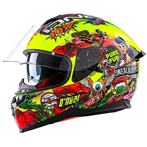 Oneal Challenger Helmet Crank Neon Yellow Motorradhelm MX-Motocross, Unisex, Neongelb, Medium