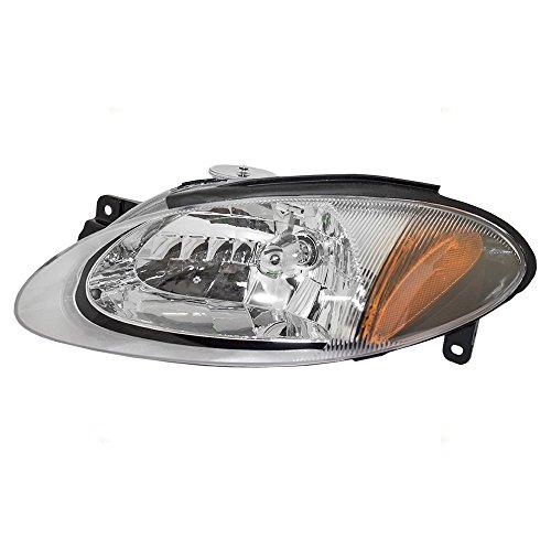 Brock Replacement Drivers Halogen Combination Headlight Headlamp Compatible with...