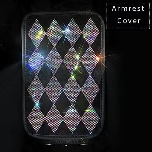 SJZERO Cubierta de Volante de Diamante con Diamantes de imitación de Cristal Bling Bling Protector de Rueda de Coche Accesorios de Piezas de Interior de Coche