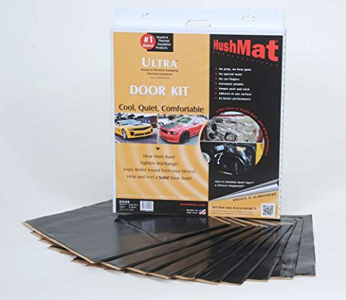 HushMat 10200 Ultra Black Foil Door Kit with Damping Pad -...