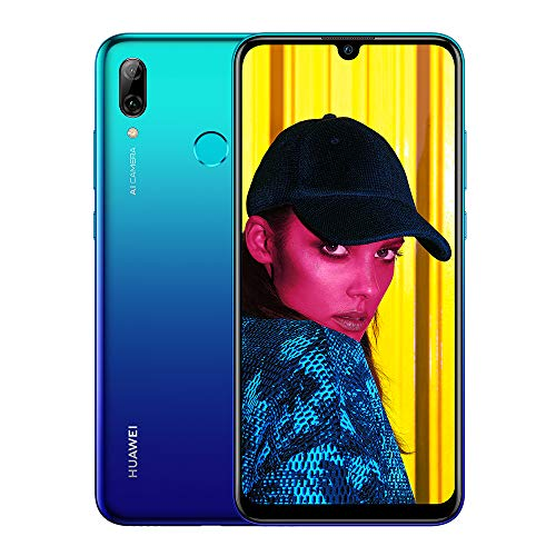 Huawei P Smart 2019 64 GB 6.21-Inch 2K FullView Dewdrop SIM-Free Smartphone with Dual AI Camera, Android 9.0, Single SIM, UK Version - Aurora Blue