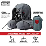 Grand Trunk Hooded Travel Pillow - Perfect Neck Pillow for Car or Airplane Sleeping - 360 Neck and Head Support, High-Grade Memory Foam, Adjustable Light-Blocking Hood, Carry Bag, Slate Gray…
