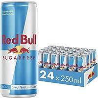 Red Bull Energy Drink Sugarfree, Zuckerfrei, 24 x 250 ml, Dosen Getränke 24er Palette, OHNE PFAND