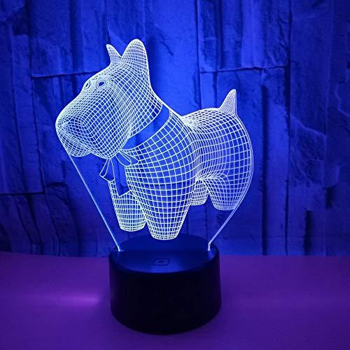 New Puppy 3d Kleines Nachtlicht Bunte Touch Remote 3d Lampe Visuelles Geschenk Kinder Lampe Luminaria De Mesa Nightlight