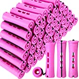 60 Pieces Hair Perm Rods Non-Slip Hair Rollers Plastic Cold Wave Rods Short Curlers Rod with Elastic...