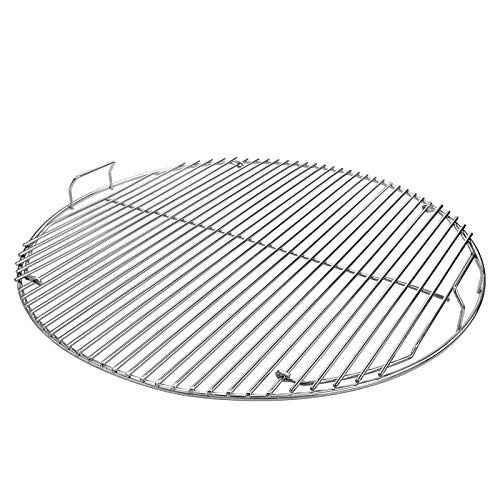 Uniflasy Hinged Cooking Grate for Weber 22.5 Inch One-Touch Silver, Bar-B-Kettle, Master-Touch, Performer and Other 22.5 Inch Charcoal Grill, 21.5 Inch Dia Gourmet BBQ System Grate for Weber 7436