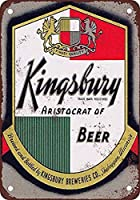 キングズベリービール 金属板ブリキ看板警告サイン注意サイン表示パネル情報サイン金属安全サイン