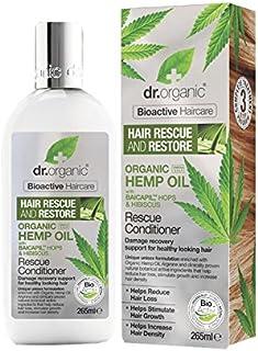 Dr Organic Hemp Oil Rescue Conditioner 265ml (Pack of 2) - Dr有機ヘンプオイルレスキューコンディショナー265ミリリットル (x2) [並行輸入品]